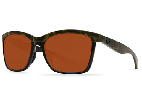 Costa Del Mar - ANAA Polarized Sunglasses (Color: Shiny Olive Tort / 580g Black Copper)