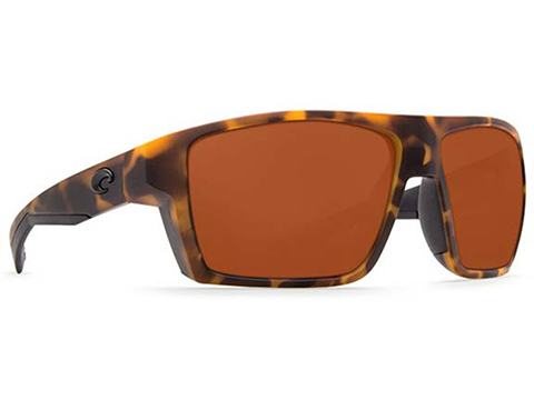 Costa Del Mar - Bloke Polarized Sunglasses (Color: Matte Retro Tortoise / 580p Matte Black Copper)