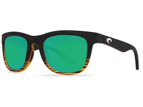 Costa Del Mar - Copra Polarized Sunglasses (Color: Matte Coconut / 580g Fade Green Mirror)