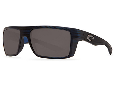 Costa Del Mar - Motu Polarized Sunglasses (Color: Matte Black Teak / 580p Gray)