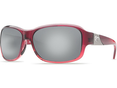 Costa Del Mar - Inlet Polarized Sunglasses (Color: Pomegranate / 580p Copper Silver Mirror)