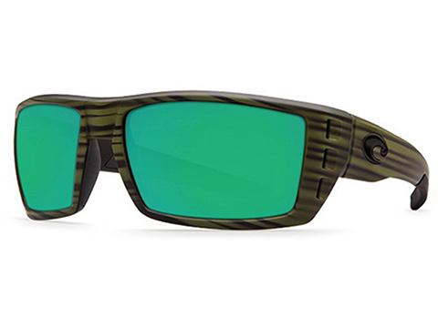 Costa Del Mar - Rafael Polarized Sunglasses (Color: Matte Olive Teak / 580p Green Mirror)