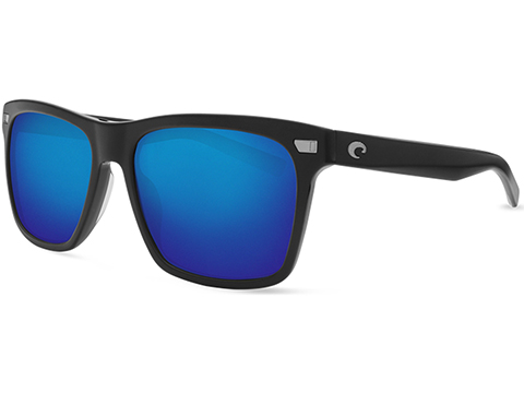 Costa Del Mar - Aransas Polarized Sunglasses (Color: Matte Black / 580g Blue Mirror)