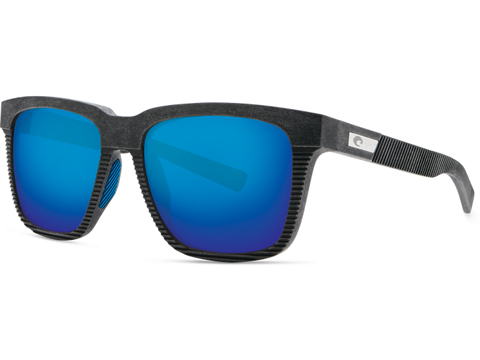 Costa Del Mar - Pescador Polarized Sunglasses (Color: Net Grey with Blue Rubber / 580g Blue Mirror)