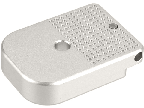 CowCow Technology CNC Aluminum Dot Matrix Magazine Base Plate for TM Hi-Capa Pistols (Color: Silver)