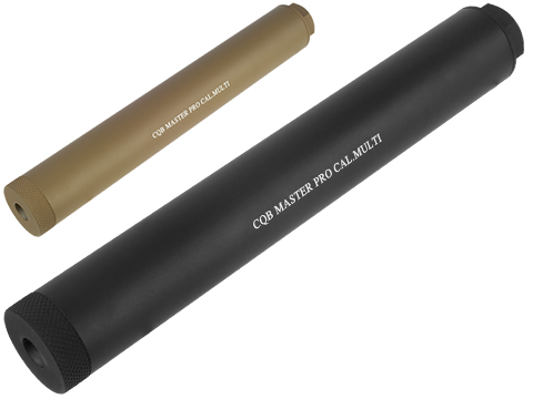 CQB Master 220mm Airsoft Pro Barrel Extension / Mock Suppressor System (Color: Black)