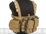 Pro-Arms High Speed Recon Chest Rig w/ Mag Pouches - Coyote Brown