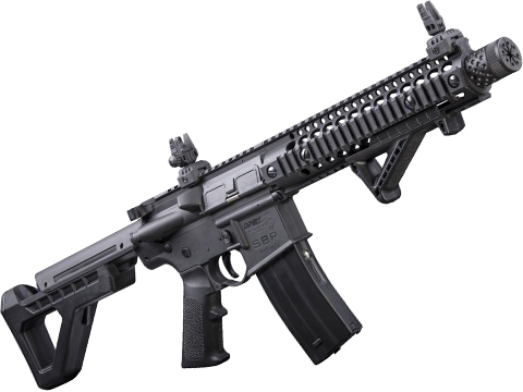 Crosman DPMS SBR Full-Auto CO2 Blowback Powered .177 BB Air Rifle (Color: Black)