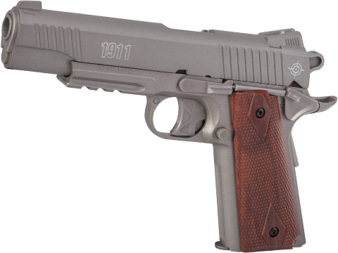 Crosman 1911 CO2 Powered Semi-Auto Non-Blowback .177 cal BB Air Pistol (Color: Silver)