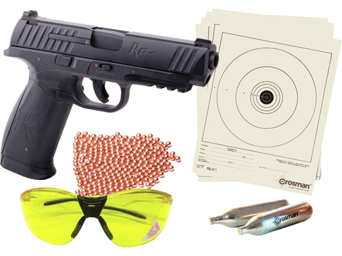 Crosman Remington RP45 CO2 Powered Semi-Auto .177 cal BB Air Pistol Kit (4.5mm Air Gun)