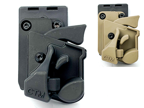 6mmProShop CTM Speed Draw Holster for Action Army AAP-01 Gas Airsoft Pistol (Color: Black)