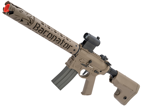 EMG Sharps Bros Warthog Baconator Licensed Advanced M4 Airsoft AEG Rifle with Super High Torque Slim Motor Grip (Color: Tan / 15 Carbine)