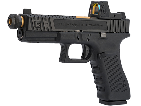 Elite Force Licensed GLOCK 17 Gen. 4 Gas Blowback Airsoft Pistol w/ EMG SAI Tier 2 Modification & Red Dot Pistol Sight