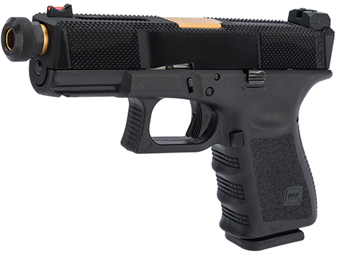 Elite Force Fully Licensed GLOCK 19 Gen.3 w/ EMG Salient Arms International Tier One Utility Slide (Type: Green Gas)