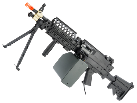 A&K Full Metal MK46 SAW Airsoft AEG Powered by Wolverine Inferno HPA Engine