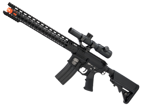 G&P Keymod Old Glory Breacher Carbine Airsoft AEG Rifle - Black