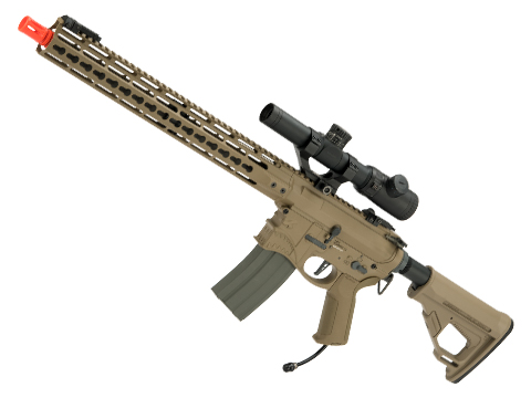 EMG / Sharps Bros Hellbreaker Licensed Full Metal Advanced M4 Airsoft AEG Rifle (Color: Tan / 15 Carbine / Polarstar F1 HPA)