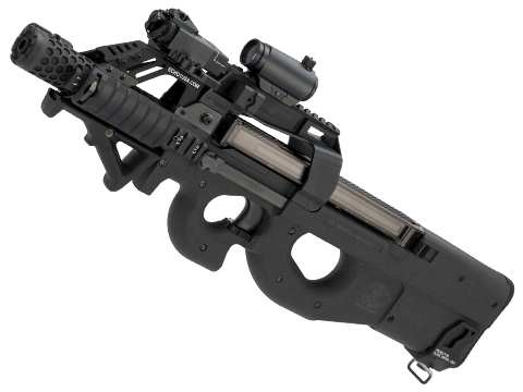 Evike.com Custom Shop Dominator Cybergun / FN Herstal P90 Gas Blowback PDW (Color: Black)