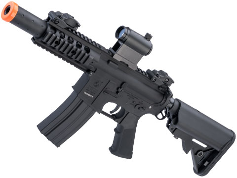 Colt Licensed Elite Line M4 AEG by Cybergun (Model: M4 SBR w/ 5 Quadrail / Black)