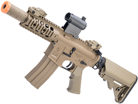 Colt Licensed Elite Line M4 AEG by Cybergun (Model: M4 SBR w/ 5 Quadrail / Tan)