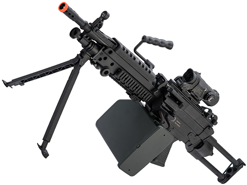 Cybergun FN Licensed M249 Para Featherweight Airsoft Machine Gun (Model: Gun + 2500rd Box Magazine)
