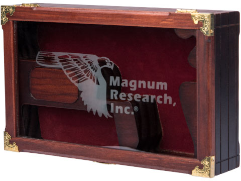 Magnum Research Licensed Wooden Box With Glass Lid