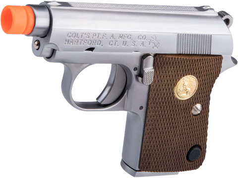 WE Tech Officially Licensed Colt Junior .25 ACP Gas Blowback Airsoft Pistol by Cybergun (Color: Silver)