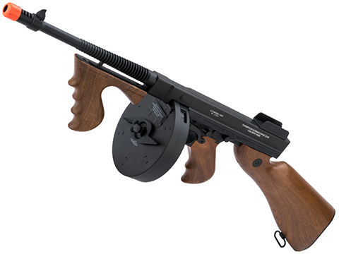 Cybergun Licensed Thompson Chicago Typewriter Airsoft AEG Rifle w/ Drum Mag (Package: Gun Only)