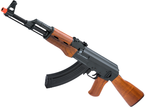 Cybergun Licensed Kalashnikov AK-47 Airsoft AEG Rifle w/ Electric Blowback and Real Wood by CYMA