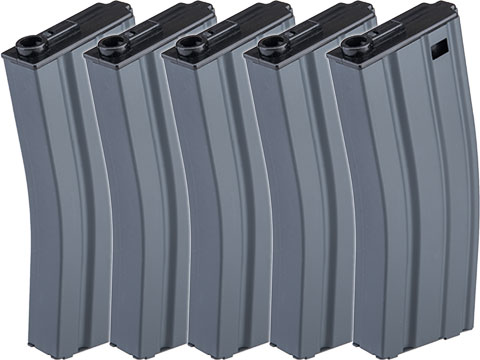Firepower Metal 190rd Mid-Cap Magazine for M4/M16 Series Airsoft AEG Rifles (Package: Set of 5)