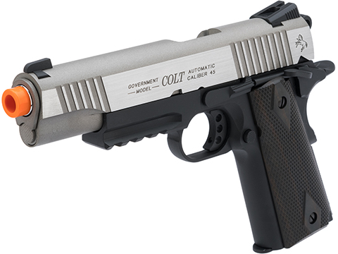 Colt Licensed 1911 Tactical Full Metal CO2 Airsoft Gas Blowback Pistol by KWC (Model: Dual-Tone)