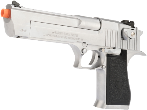 WE-Tech Desert Eagle .50 AE Full Metal Gas Blowback Airsoft Pistol by Cybergun (Color: Silver)