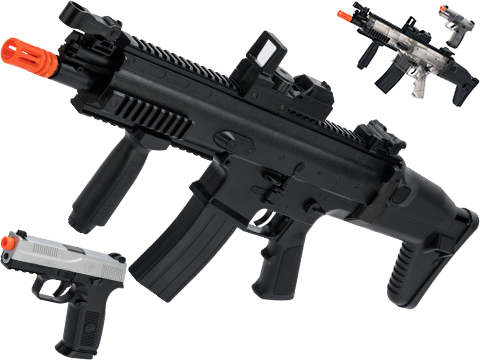 FN Herstal Licensed SCAR-L Airsoft AEG and FNS-9 Pistol Starter KIt Kit by Cybergun
