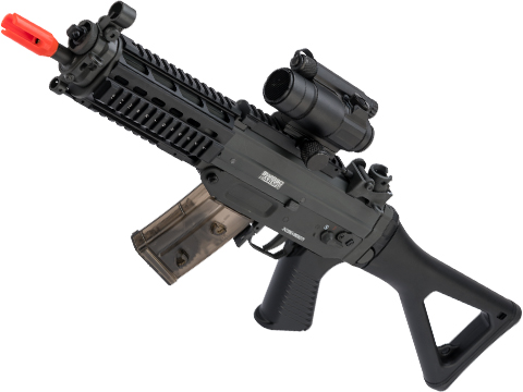 Cybergun / Swiss Arms Licensed SG552 Commando Airsoft AEG Rifle (Model: EBB / Metal Receiver w/ Quad Rail)
