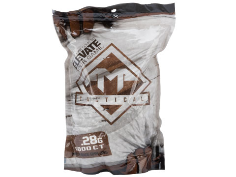 AMP Tactical Match Grade 6mm Airsoft BBs (Weight: .28g / 5000 Rounds / White)