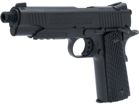 Swiss Arms SA 1911 MRP CO2 Powered Blowback 4.5mm Air Pistol (Color: Black)