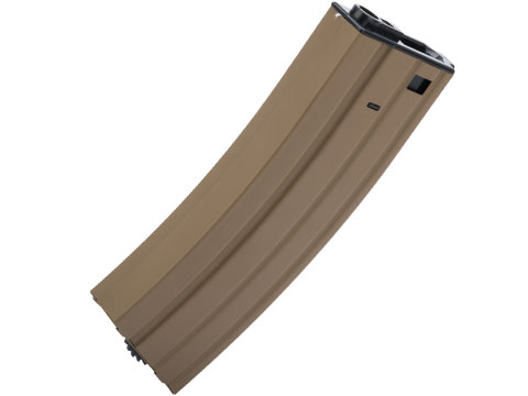 Matrix / CYMA Delta Metal Magazine for M4 / M16 / MK16 / L85 Series Airsoft AEG Rifles (Capacity: 450 Round Hi-Cap / Tan)