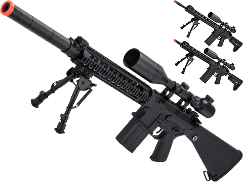 CYMA Platinum SR-25 QBS Airsoft AEG Designated Marksman Rifle (Model: SR-25)