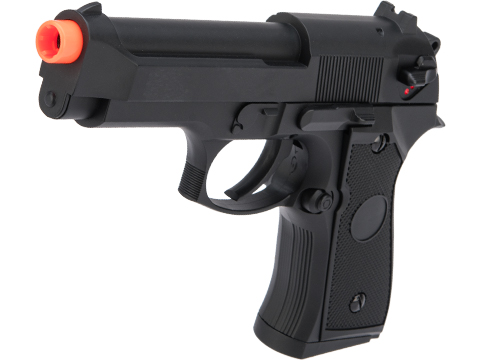CYMA AEP Full Auto Select Fire M9 Airsoft AEP Pistol w/ Metal Gearbox & MOSFET (Color: Black)