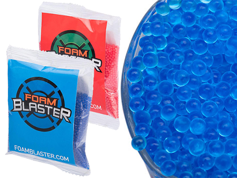 Foam Blaster Replacement Water Gel Bullets for Water Bead Grenades and other Gel Ball Blasters (Qty: 10,000 Count / Blue)