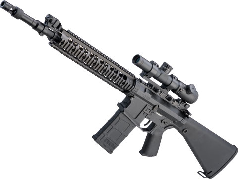 CYMA Platinum SR-25 QBS Airsoft AEG Designated Marksman Rifle (Model: SR-25 SPR)