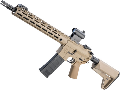 Helios Umbrella Corporation Weapons Research Group Licensed M4 M-LOK Airsoft AEG Rifle (Color: Tan / Carbine - 350 FPS)