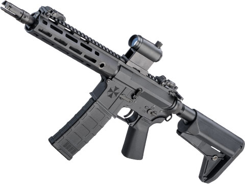 Helios Umbrella Corporation Weapons Research Group Licensed M4 M-LOK Airsoft AEG Rifle (Color: Black / PDW - 350 FPS)