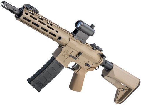 Helios Umbrella Corporation Weapons Research Group Licensed M4 M-LOK Airsoft AEG Rifle (Color: Tan / PDW)