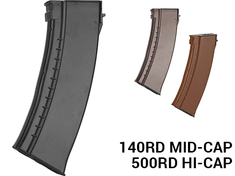 CYMA AK74-Style 140rd Mid-cap Magazine for AK Series Airsoft AEG Rifle (Color: Black)
