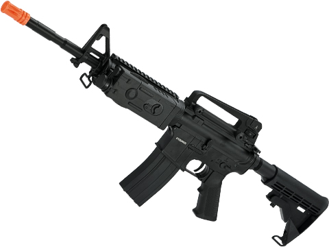 CYMA Sport Full Metal M4 RIS Carbine Airsoft AEG Rifle w/ PEQ2 Box & Lipo ready gearbox