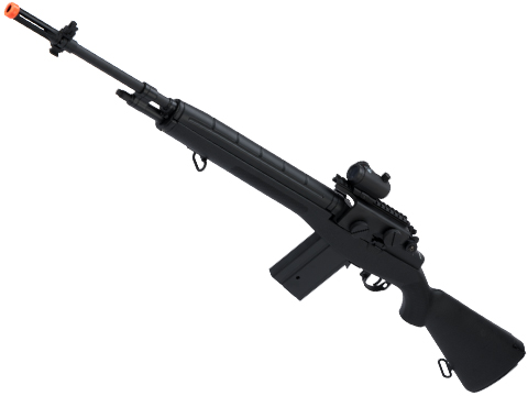 CYMA Sport M14 Airsoft AEG Rifle (Color: Black / Red Dot + Mount)
