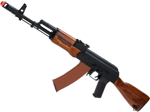 CYMA Standard AK74 Airsoft AEG Rifle with Stamped Steel Receiver and Real Wood Furniture