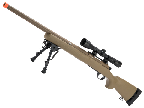 CYMA Advanced M24 Military Airsoft Bolt Action US Army Scout Sniper Rifle (Color: Tan / Fluted Barrel / Rifle Only)