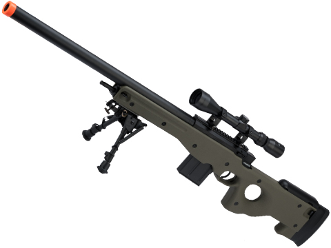 CYMA Standard L96 Bolt Action High Power Airsoft Sniper Rifle (Color: OD Green / Add Scope + Bipod)